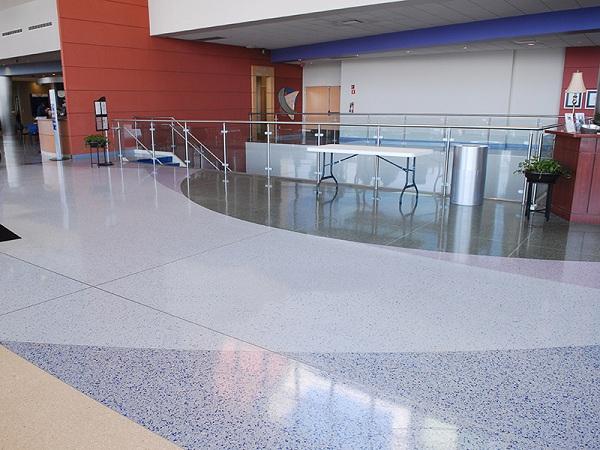 环氧彩砂水磨石地坪,环氧艺术地坪